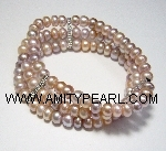 Fresh water pearl bracelet - natural color pearl - elastic.jpg