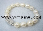 Fresh water pearl bracelet - white rice pearl - silver 925 clasp.jpg