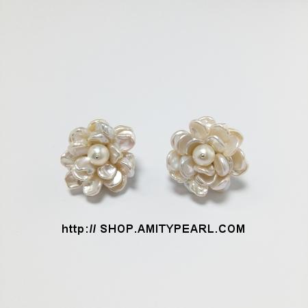Er5012 Pearl Flower Earrings