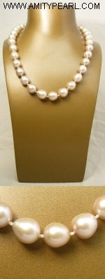 Fresh water pearl necklace - 10-11mm purple baroque pearl - silver 925 clasp.JPG