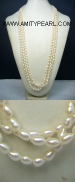 Fresh water pearl necklace - 6-7mm white rice pearl.JPG