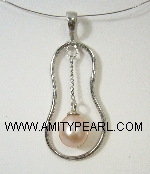 Fresh water pearl pendant - natural purple color.jpg